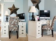 DIY Antiqued Desk, would be perfect for my loft office space.
