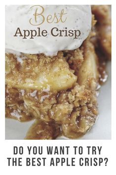 Do you want to try the best apple crisp? Party Recipes, Drink Recipes, Healthy Recipes, Healthy Foods, Healthy Sugar Alternatives, Best Apple Crisp, Drink Specials, Special Recipes, Soul Food