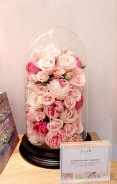 Roses stashed inside a glass jar! Gorgeous!