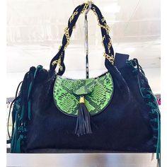Black... but acid green    #fashion #style #stylish #love #bag #bags #fringes #maxibag #nails #hair #beauty #beautiful #minibag #handbag #blog #green #black #blog #fashionblog #design #model #leather #shoes #heels #styles #outfit #luxury #jewelry #shopping #glam