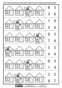 This is a GREAT site for Dutch worksheets, including packets for each holiday. Preschool Math, Kindergarten Math, Teaching Math, Math Worksheets, Math Resources, Preschool Activities, Saint Nicolas, Holidays Around The World, Math For Kids