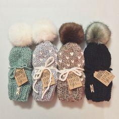 Slouchy Hat Beanie Knit Fair Isle Pom Pom by OliveandArrowKnits