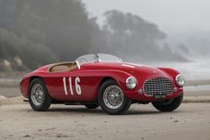 Known as the godfather of all short-block-based competition cars that followed, the 1950 Ferrari 166 MM Barchetta is an beautiful example of early Ferrari sports cars. Built in 1948 by Touring of Milan to commemorate Ferrari's victory in the Mille...
