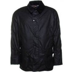 Barbour Lifestyle Mens Navy Ashby Waxed Jacket