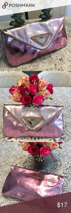 🆕XOXO✨Sweet Envelope Clutch Dark pink with lighter pink flap. XOXO Bags Clutches & Wristlets