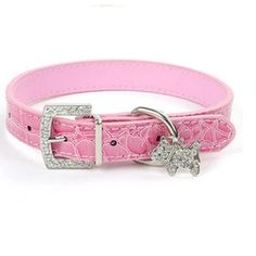 Crystal Pendant Pet Dog Collar Puppy Cat Pet Buckle Dogs Leads Neck Strap Animal Pet Accessories Dog Leash and Harnesses Led Dog Collar, Collar And Leash, Collar Chain, Leather Cat Collars, Pu Leather, Puppy Collars, Pet Boutique, Buy Pets, Dog Leash