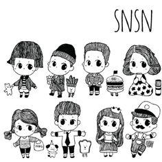 SNSN 처음 스케치버젼 !    #소년   #소녀   #SNSN  #코너스샤인