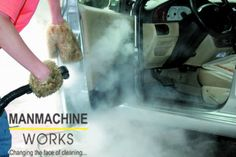 Interior Design A steam car wash machine utilizes water vapor for cleaning the interiors and ext. Interior Barn Door Hardware, Interior Shutters, Cleaning Car Upholstery, Upholstery Cleaner, Car Cleaning Hacks, Steam Cleaning, Steam Car Wash, Lab, Car Washer