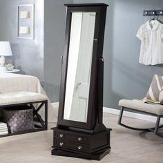Belham Living Swivel Cheval Mirror Jewelry Armoire - Floor Mirrors at Hayneedle