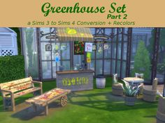 Leander Belgraves - Greenhouse Set - Part 2 a Sims 3 to Sims 4...