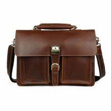 Neue Männer Geschäfts-Aktenkoffer 16-Zoll-Laptop-Tasche echtes Leder-Qualitäts-Büro-Sitzungs-Arbeitstasche Formale Schulter bagli-1323 (China (Festland))