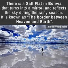 Salt Flat in Bolivia, travel destinations, tourist spots, wanderlust Oh The Places You'll Go, Cool Places To Visit, Mind Blowing Facts, All Nature, Beautiful Places To Travel, Amazing Places On Earth, Heaven On Earth, Future Travel, Adventure Is Out There