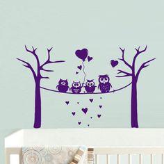 Wall Decal Vinyl Sticker Decor Art Bedroom Design Mural Nursery Kids Baby Owl Baloons Bubbles Funny (z733)