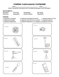 Worksheets Weather Tools Worksheet worksheets tools and weather on pinterest instruments