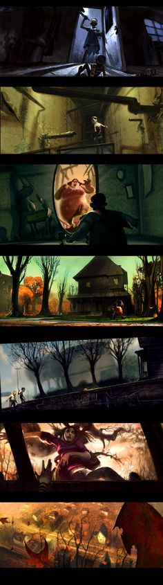 loved this movie...love this guys work - chris appelhans monster house concept art