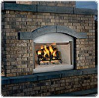 """Vantage Hearth 36"""" Stainless Steel Outdoor Wood Burning Fireplace"""
