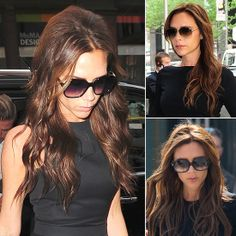the look: Long, glossy waves . . . and oversize sunglasses
