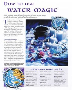 Magick Spells: #BOS How to Use #Water #Magic page.:
