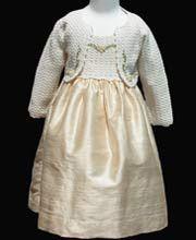 Exquisite Hand Crochet Knitted Girls Holiday Silk Dress 3T – Carousel Wear