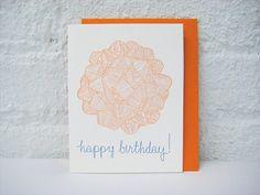 Letterpress Birthday Card  Happy Birthday  par pepperpressny, $5.50