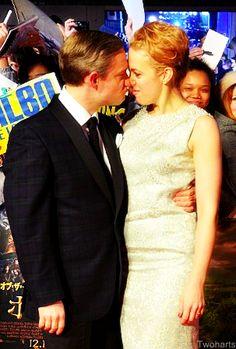 Martin Freeman and Amanda Abbington. I just can't handle this level of adorable. Just so cute!!