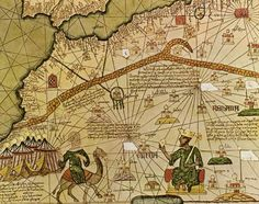Portolan map is part of the Catalan Atlas that was created in 1375 CE by one Abraham Cresques from Catalonia.