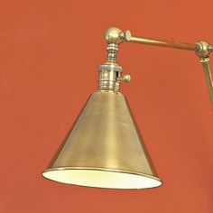 Cone Pivot Shade Double Joint Wall Lamp olde_brass
