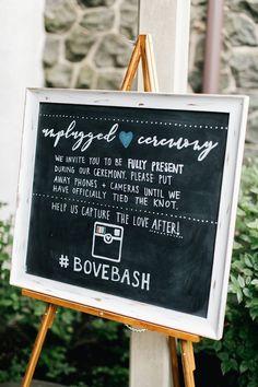 Unplugged Wedding Sign | Using Social Media at your wedding | Treasury on the Plaza Blog