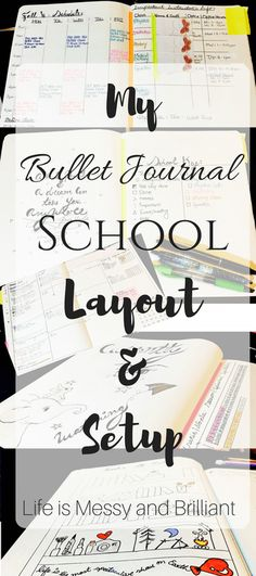 Bullet Journal: My College and School Layout & Setup