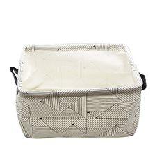 Amazon.com: ASAPS Canvas Fabric Cube Foldable Storage Basket with Handle: Storage & Organization
