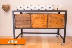 Before & After: From Boring Office Desk to Industrial Chic Changing Table