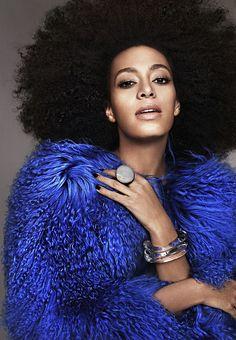 A Beleza do Dia: Solange Knowles: a cantora, compositora, DJ, dançarina, atriz e modelo norte-americana que é a irmã caçula de Beyoncé.