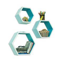Bee-lieve Bookshelf in Blue - Set of 3