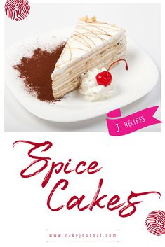 3 Spice Cake Recipes of All Time - Good For A Sweet Breakfast Cold Desserts, Mini Desserts, Sweet Desserts, Apple Spice Cake, Pumpkin Spice Cake, Spice Cake Recipes, Snack Recipes, Savory Snacks, Yummy Snacks