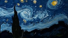 WATCH: A Dark Water Recreation of Van Gogh's 'Starry Night' Using Paper Marbling Techniques [video]