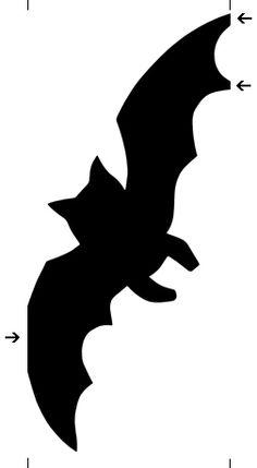 bat paper chain template