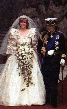 Princess Diana Lady Spencer And Prince Charles Wedding 29 July 1981