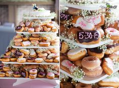 Donut cake deliciousness!  last wedding we went to had this, and it was a big hit!