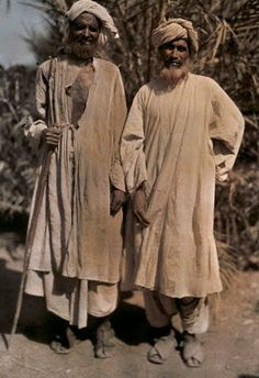 Two Mecca pilgrims proclaim their journey with hennaed beards Darya Khan ,1929