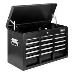 Giantz 9 Drawers Toolbox Storage Chest Cabinet Trolley Roller Tool Box - 9350062028421 For Sale, Buy from Tool Boxes collection at MyDeal for best discounts. Us General Tool Box, Tool Storage, Storage Chest, Mechanic Tool Box, Metal Tool Box, Buy Tools, Drawers, Hardware, Shelves