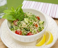 Quinoa Tabbouleh Salad  A trendy variation on the classic Middle Eastern dish