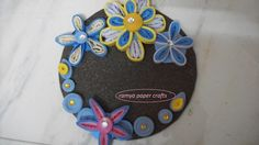 quilling design on old cd.