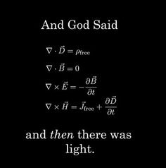Maxwell's equations.