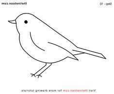 bird drawing simple easy birds draw drawings tree tweety cartoon pencil mermaid