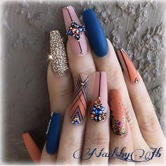 top 90 awesome acrylic nails design top 90 awesome acrylic nails design Discover the best Nail Art Stickers & Decals in Best Sellers Best Acrylic Nails, Acrylic Nail Designs, Nail Art Designs, Nails Design, Perfect Nails, Gorgeous Nails, Bling Nails, My Nails, Fall Nails
