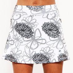 Mums Noir Black & White Athletic Skirt from Running Skirts®