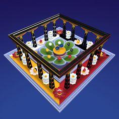 Kalachakra Mandala in Tibet Art, Vajrayana Buddhism, Mudras, Buddhist Art, Poker Table, Mythical Creatures, Deities, Altar, India