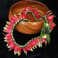 Song of India Lei w/ Red Ginger