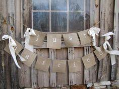 Une décoration de mariage autour de la toile de jute