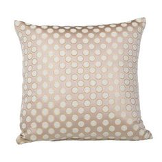 House of Hampton Clairsville Dots Gold Line Throw Pillow Color: Rose